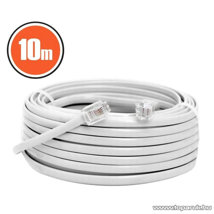 neXus Telefonvezeték, 6P/4C, 10 m, fehér, 3 db / csomag (20303)