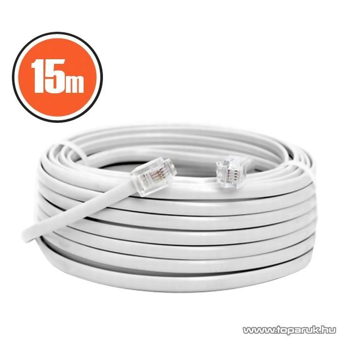 neXus Telefonvezeték, 6P/4C, 15 m, fehér, 3 db / csomag (20304)