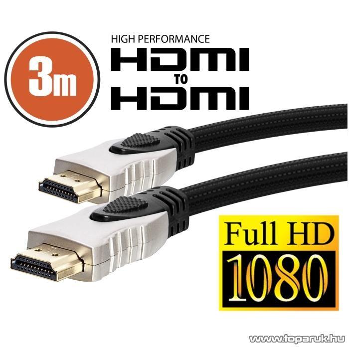 neXus Professzionális HDMI kábel, 3 m, aranyozott csatlakozóval, bliszterrel (20347)