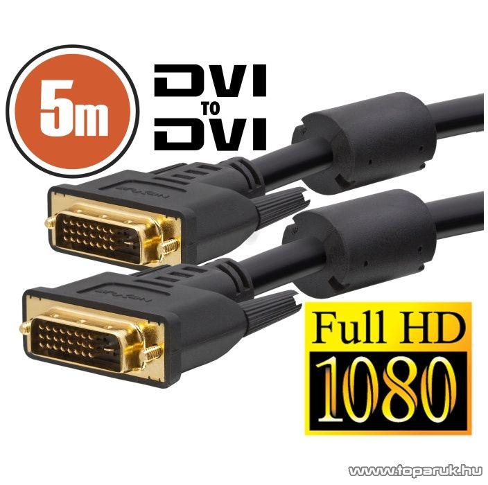 neXus Dual-link DVI kábel, 5 m, aranyozott csatlakozóval (20392)