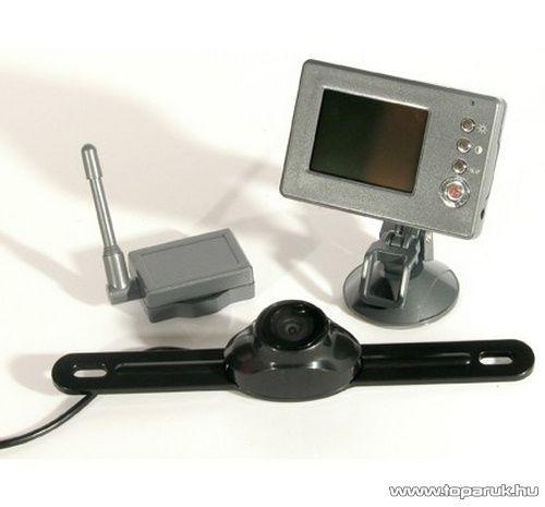 """Global RVC-3000 Vezeték nélküli tolató kamera 2,4"""" színes monitorral"""