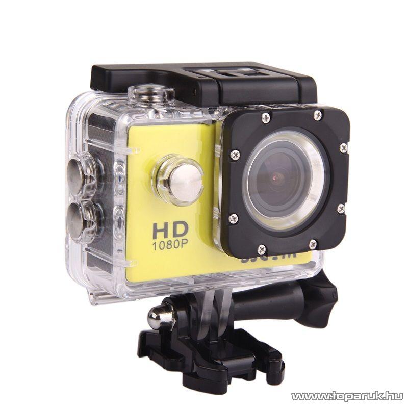 SJCAM SJ4000 sportkamera (FullHD-s kalandkamera) vízálló házzal, sárga