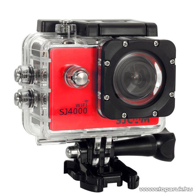 SJCAM SJ4000 WiFi sportkamera (FullHD-s és Wifi-s kalandkamera) vízálló házzal, piros