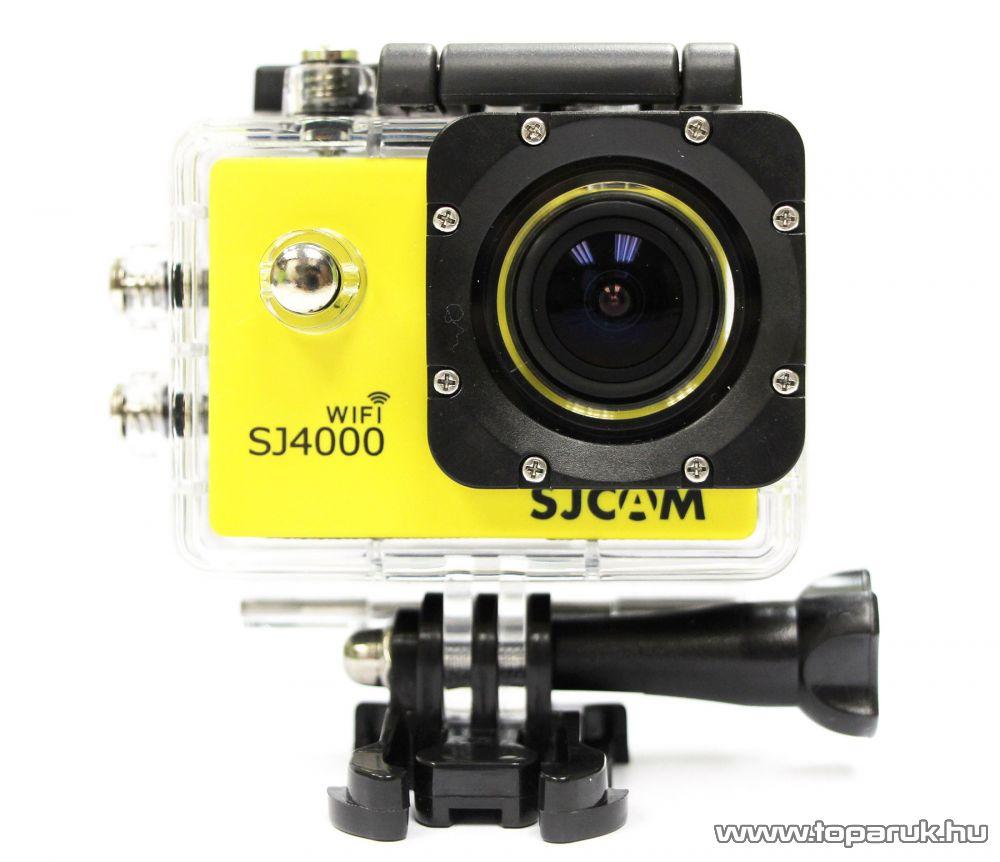 SJCAM SJ4000 WiFi sportkamera (FullHD-s és Wifi-s kalandkamera) vízálló házzal, sárga