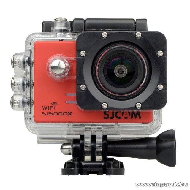 SJCAM SJ5000X ELITE WiFi sportkamera (4K-s kalandkamera) vízálló házzal, piros
