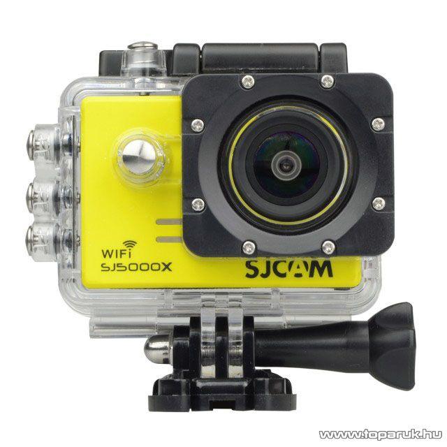 SJCAM SJ5000X ELITE WiFi sportkamera (4K-s kalandkamera) vízálló házzal, sárga