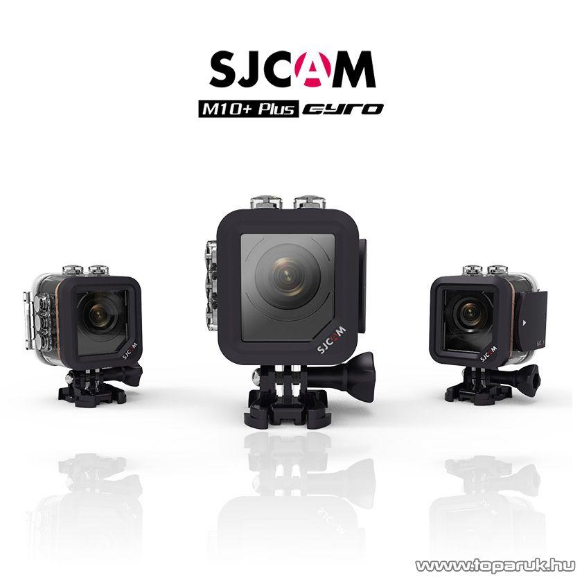 SJCAM M10+ 2K Gyro sportkamera (kalandkamera), 30 méterig vízálló, fekete