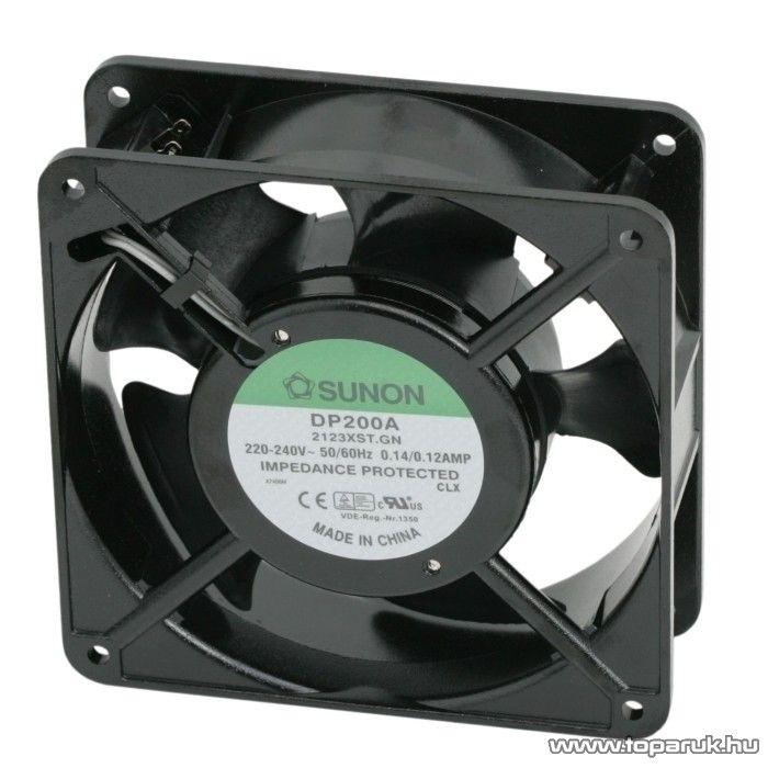 Sunon Ventilátor, 230V, AC, 120 x 120 x 38 mm (55010) - készlethiány