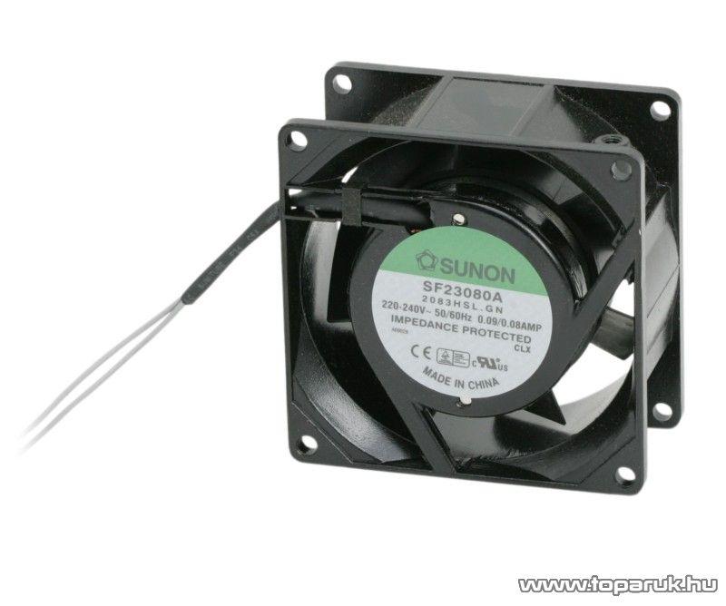 Sunon Ventilátor, 230V AC, 80 x 80 x 38 mm (55014) - megszűnt termék: 2015. május