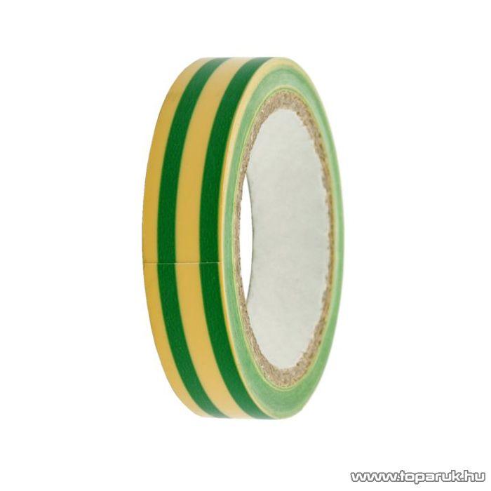 Szigetelő szalag, 12mm, 6m, zöld-sárga, 10 db / csomag (11090X) - megszűnt termék: 2016. május