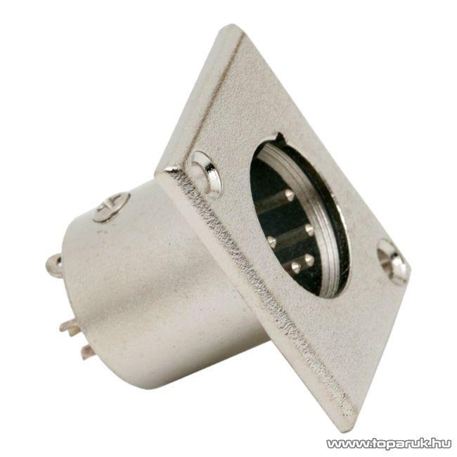 XLR dugó csatlakozó, 5 pólusú, beépíthető, fém (05248)