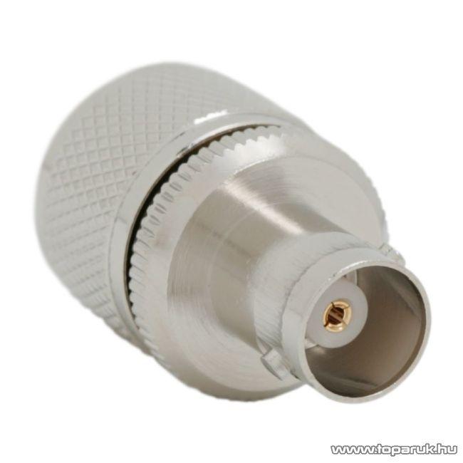 BNC / UHF átalakító csatlakozó BNC aljzat - UHF dugó, aranyozott tüske (05037)