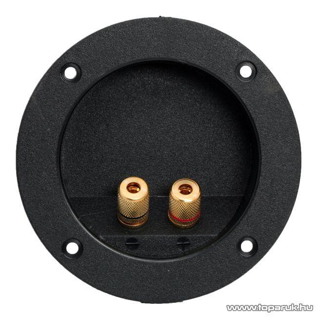 2-es hangszóró aljzat csatlakozó, beépíthető, aranyozott, csavaros, 2 db / csomag (05184)