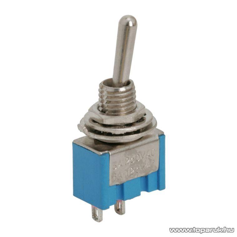 Karos kapcsoló, 1 áramkör, 3A-250V, OFF-ON, 5 db / csomag (09016)
