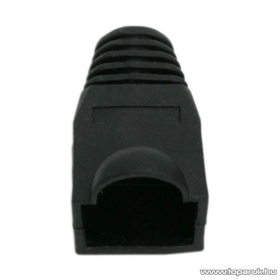 Törésgátló 8P8C moduláris dugóhoz, fekete, 100 db / csomag (05230FK)