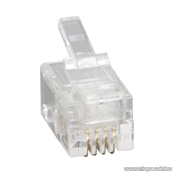 4P4C moduláris dugó, 100 db / csomag (05217)