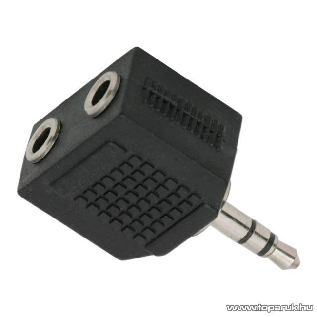 JACK Y-elosztó, 2 x 3.5 JACK aljzat - 3.5 JACK dugó, (sztereo), 10 db / csomag (05089)