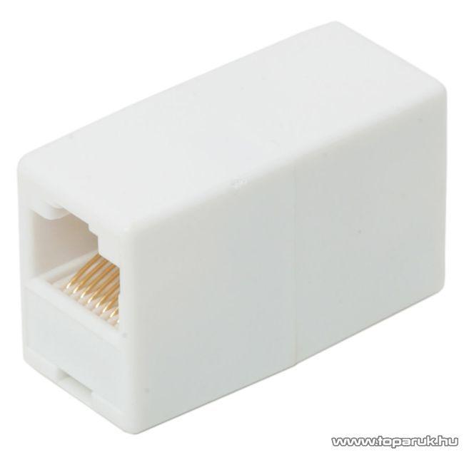 8P8C toldó aljzat - aljzat, egyenes bekötésű, fehér, 5 db / csomag (05228)