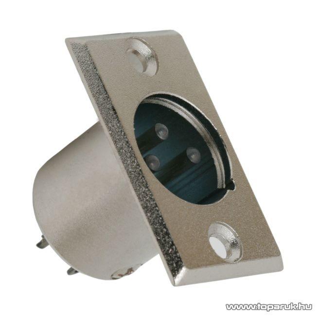 XLR dugó csatlakozó, 3 pólusú, beépíthető, fém, 5 db / csomag (05194)