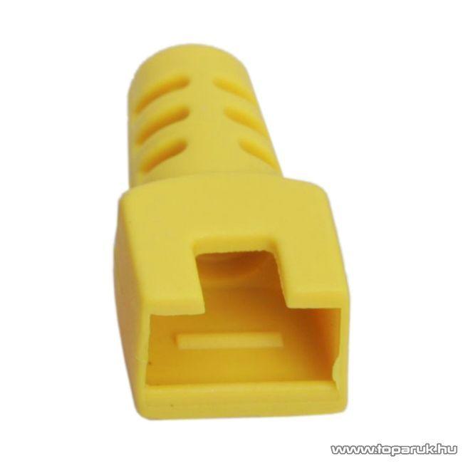 Törésgátló 8P8C moduláris dugóhoz, sárga, 50 db / csomag (05288SA)