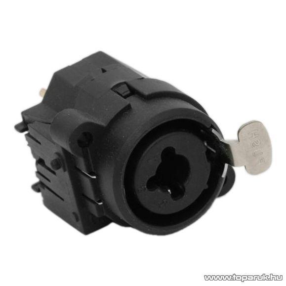 XLR / JACK aljzat, 3p. XLR és 6,3 mm JACK, beépíthető, (mono) (05209) - megszűnt termék: 2016. május