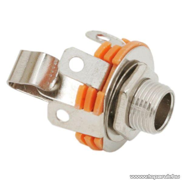 JACK aljzat, beépíthető, mono, 6,3 mm, 10 db / csomag (05132)