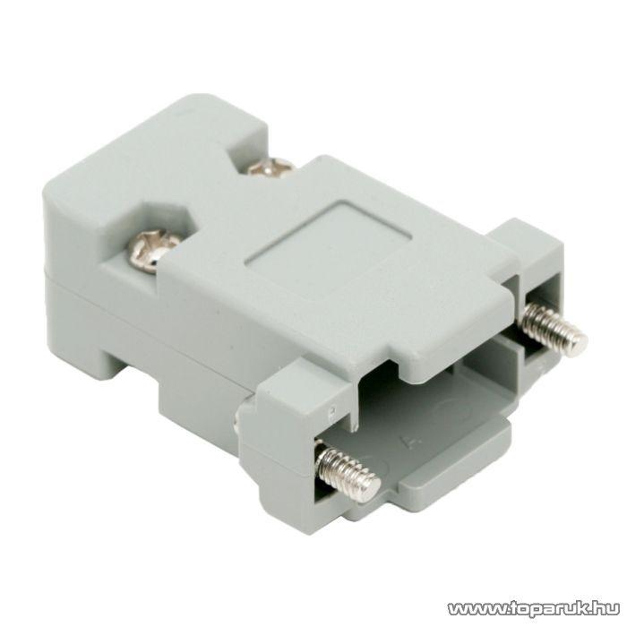 D-SUB műanyag ház, 2 és 3 soros csatlakozóhoz, 5 db / csomag (05140)
