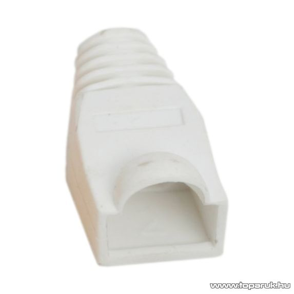 Törésgátló 8P8C moduláris dugóhoz, fehér, 100 db / csomag (05230FH)