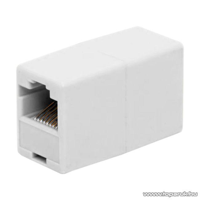 8P8C toldó aljzat - aljzat CAT.5, fehér, 5 db / csomag (05266)