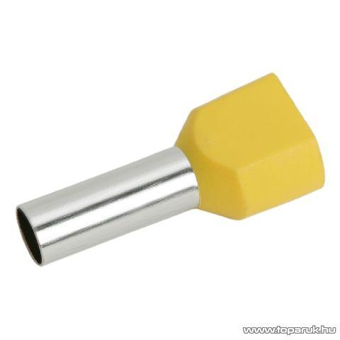 Érvéghüvely, 2 x 6,0 mm2-es vezetékekhez, sárga, 100 db / csomag (05726)