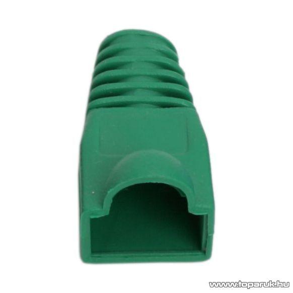 Törésgátló 8P8C moduláris dugóhoz, zöld, 100 db / csomag (05230ZO)