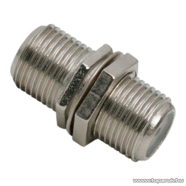 F toldó csatlakozó, aljzat - aljzat, fém kivitel, 10 db / csomag (05259)