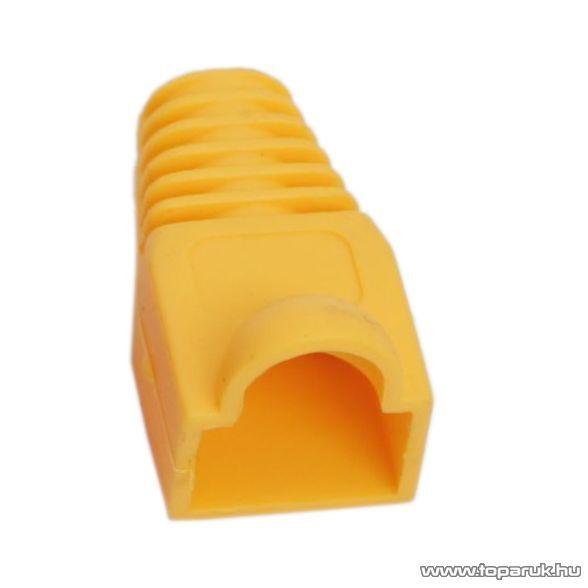 Törésgátló 8P8C moduláris dugóhoz, sárga, 100 db / csomag (05230SA)
