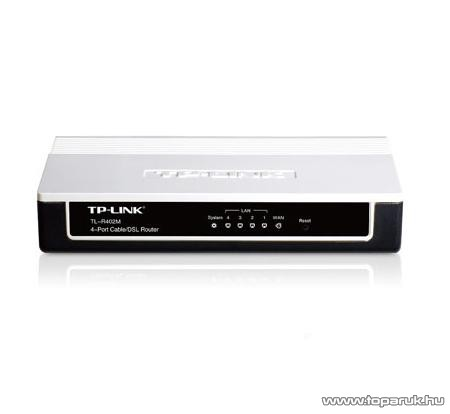 TP-LINK TL-R402M Vezetékes (kábeles) 54 Mbps Router 1xWAN + 4xLAN 10/100 porttal - megszűnt termék: 2015. augusztus