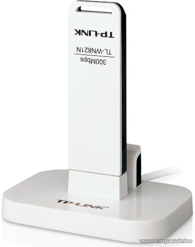 TP-LINK 821NC USB Wifi (WLAN) hálózati adapter 300 Mbps + bölcső - megszűnt termék: 2015. július
