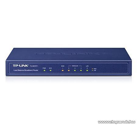 TP-Link TL-R470T+ Load Balance Broadband Router 4xWAN + 1xLAN porttal
