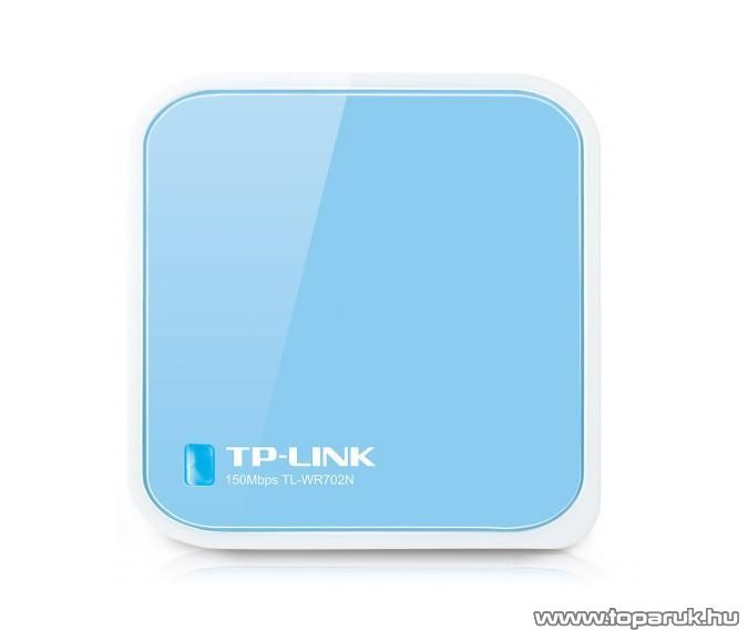TP-Link TL-WR702N Wireless USB tápellátású Nano Router 150 Mbps