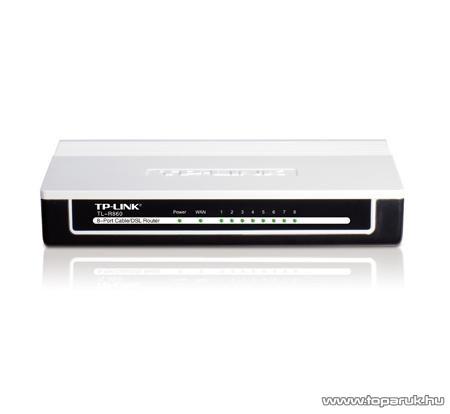 TP-LINK TL-R860 Vezetékes 8 portos ADSL/Kábel Router - megszűnt termék: 2015. május