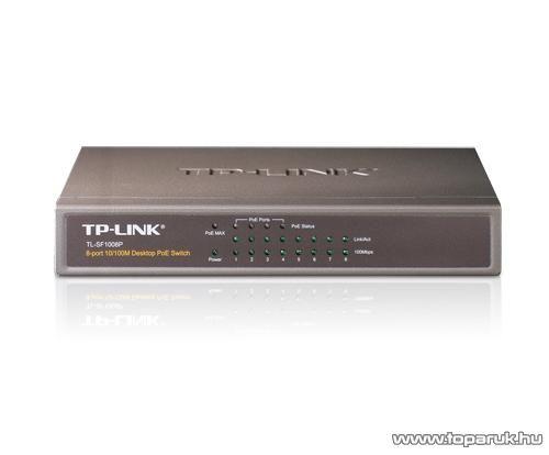 TP-Link TL-SF1008P 8 portos 10/100 Mbps LAN nem menedzselhető asztali PoE Switch