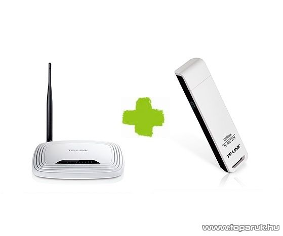 TP-LINK TL-WR150KIT 150 Mbps Wifi csomag (WR740N Wireless Router + WN721N USB adapter)