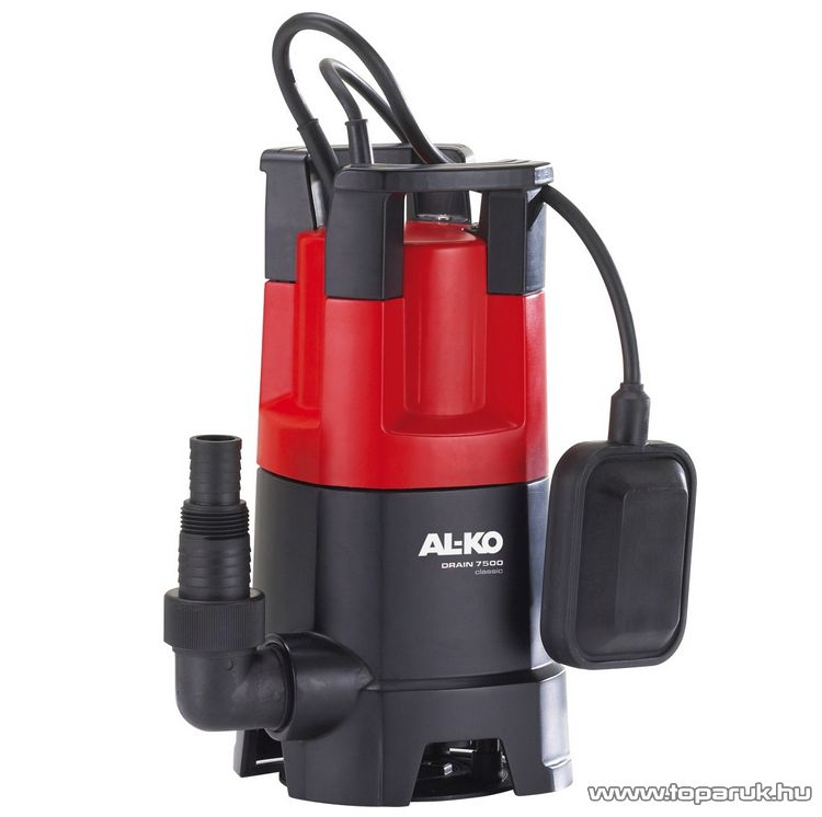 AL-KO Drain 7500 Classic Úszókapcsolós szennyvíz szivattyú, 450 W (szennyezett vízre)