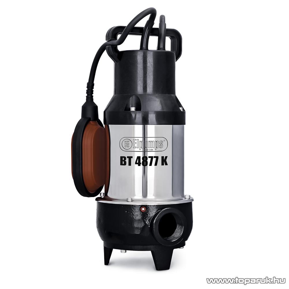 Elpumps BT 4877 K Darabolós úszókapcsolós szennyvíz szivattyú, fekáliaszivattyú relével, 900 W (szennyezett vízre)