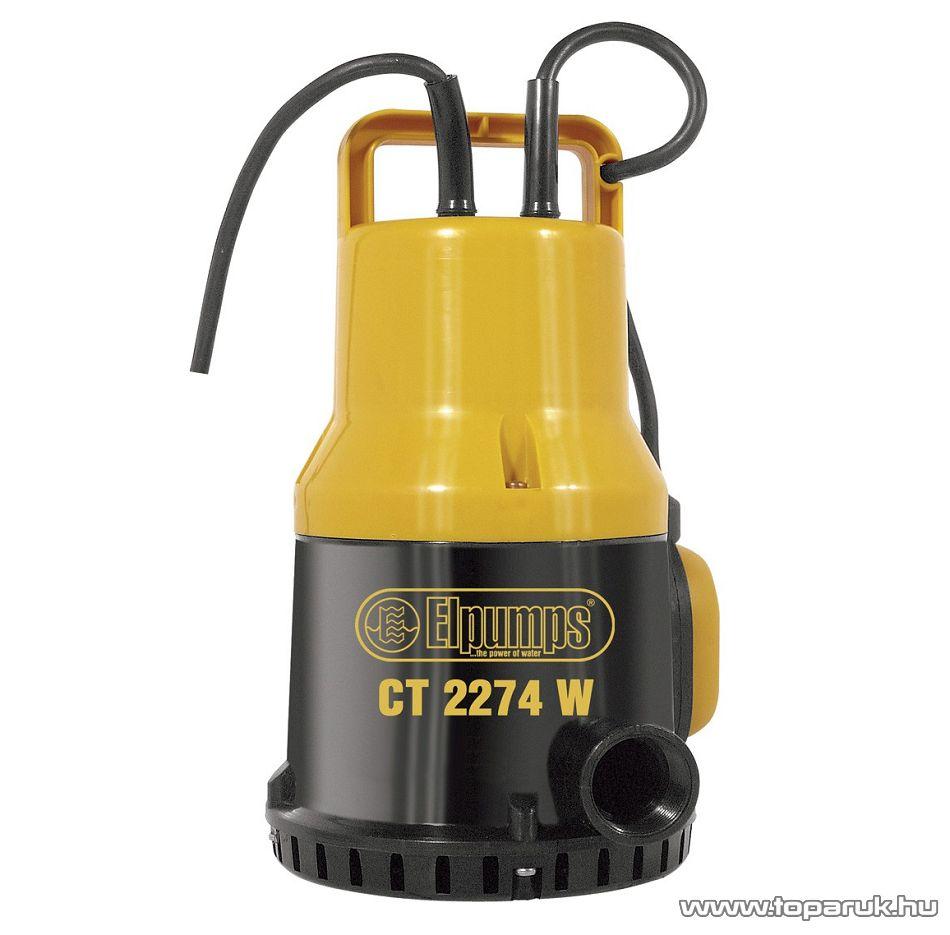 Elpumps CT 2274 W Műanyag mélykuti merülő szivattyú, 450 W (szennyezett vízre)