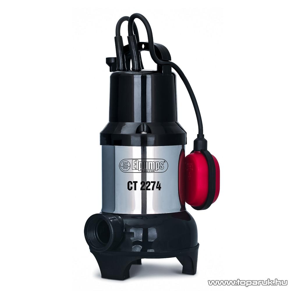 Elpumps CT 2274 Úszókapcsolós merülő szivattyú, búvár és szennyvíz szivattyú, 450 W (szennyezett vízre)