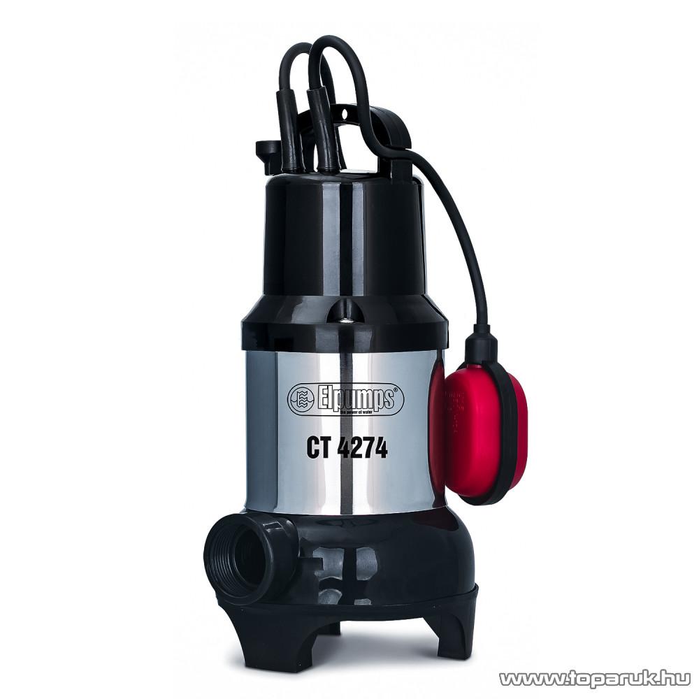 Elpumps CT 4274 Úszókapcsolós merülő szivattyú, búvár és szennyvíz szivattyú, 800 W (szennyezett vízre)